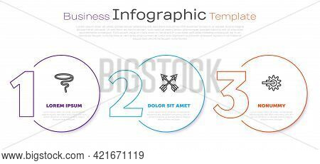 Set Line Lasso, Crossed Arrows And Spur. Business Infographic Template. Vector
