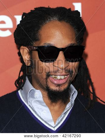 LOS ANGELES - JAN 06:  Lil Jon arrives to the NBC All Star Winter TCA 2013  on January 06, 2013 in Pasadena, CA