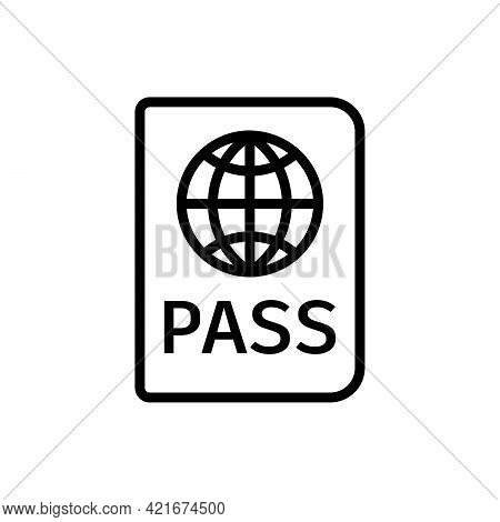 Passport Icon. Linear Icon Of Passport. Vector Illustration.