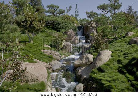 Garden Waterfall And Stream