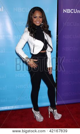 LOS ANGELES - JAN 06:  CHRISTINA MILIAN arriving to TCA Winter Press Tour 2012: NBC Party  on January 06, 2012 in Pasadena, CA