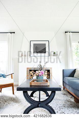 Simple living room interior minimal style