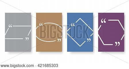 Chat Message Frame Banner. Quote Frame Template. Quotation Dialogue Speech Bubble. Vector Illustrati