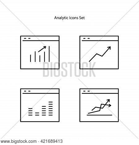 Analytical Icon Isolated On White Background From Data Analysis Collection. Analytical Icon Trendy A