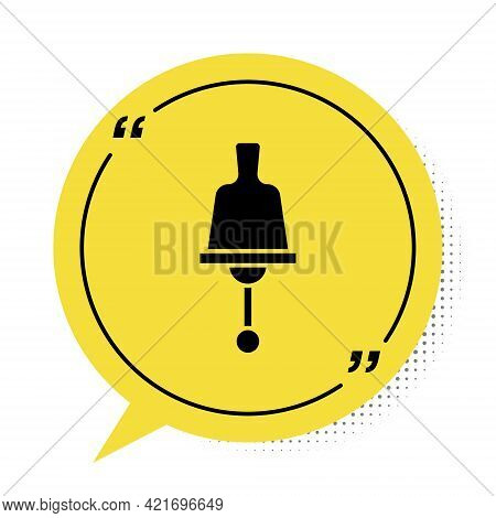 Black Ringing Bell Icon Isolated On White Background. Alarm Symbol, Service Bell, Handbell Sign, Not