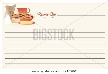 Recipe Card Baking