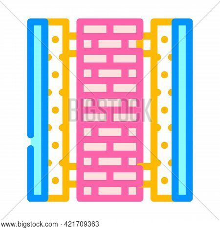 Ready Construction Building Material Color Icon Vector. Ready Construction Building Material Sign. I
