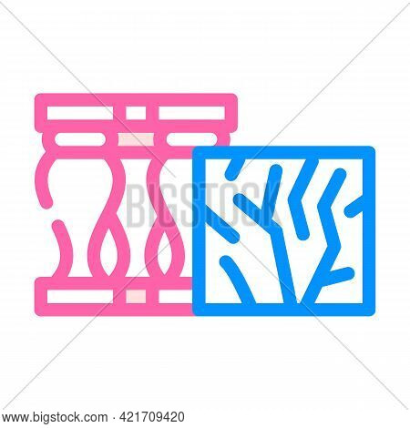Marble Building Material Color Icon Vector. Marble Building Material Sign. Isolated Symbol Illustrat