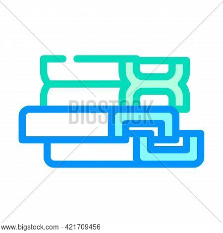 Support Structures, Beams And Channels Building Material Color Icon Vector. Support Structures, Beam