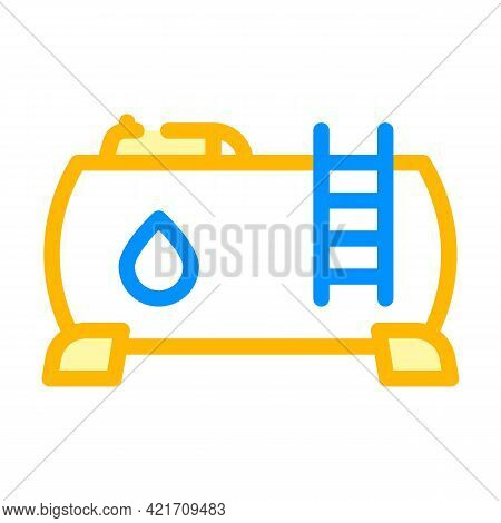 Water Building Material Color Icon Vector. Water Building Material Sign. Isolated Symbol Illustratio