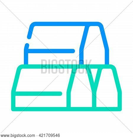 Curbs Building Material Color Icon Vector. Curbs Building Material Sign. Isolated Symbol Illustratio