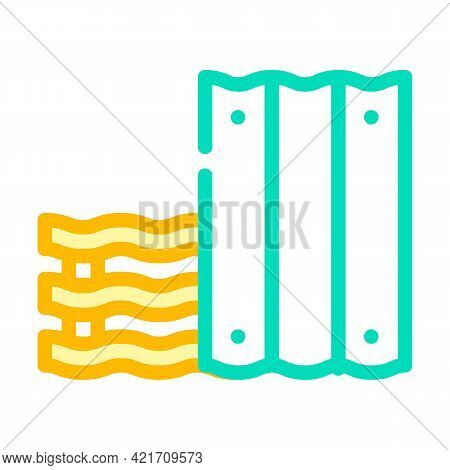 Roofing Material Building Material Color Icon Vector. Roofing Material Building Material Sign. Isola