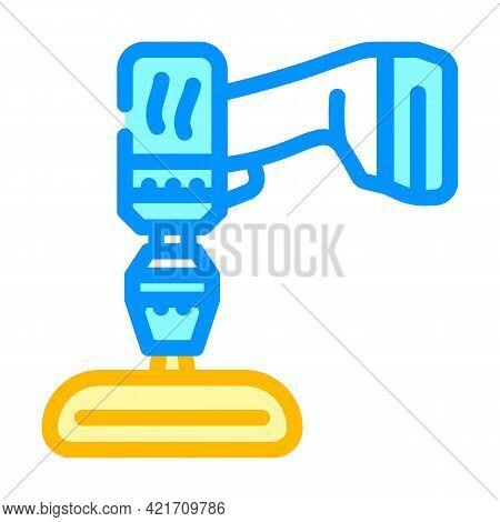 Screwdriver Attachment For Car Polishing Color Icon Vector. Screwdriver Attachment For Car Polishing