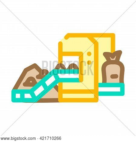 Industrial Packaging Of Compost Color Icon Vector. Industrial Packaging Of Compost Sign. Isolated Sy