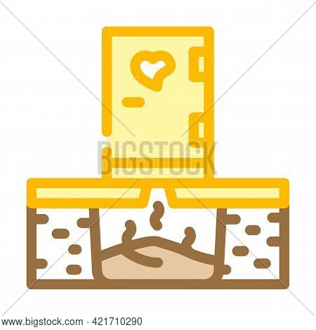 Toilet Compost Color Icon Vector. Toilet Compost Sign. Isolated Symbol Illustration
