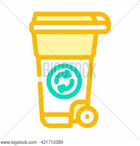 Waste Tank Compost Color Icon Vector. Waste Tank Compost Sign. Isolated Symbol Illustration