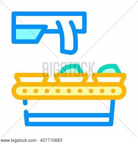 Food Conveyor Color Icon Vector. Food Conveyor Sign. Isolated Symbol Illustration