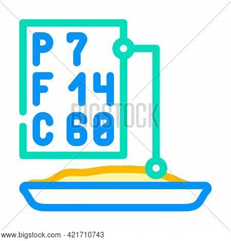 Analysis For Protein, Fat And Carbohydrates Color Icon Vector. Analysis For Protein, Fat And Carbohy