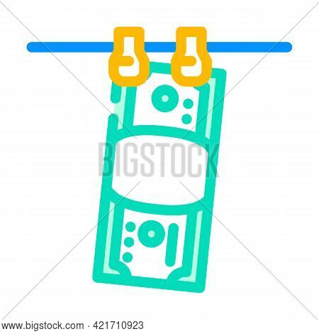 Money Laundered Color Icon Vector. Money Laundered Sign. Isolated Symbol Illustration