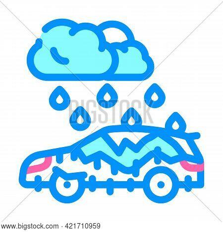Freezing Rain Disaster Color Icon Vector. Freezing Rain Disaster Sign. Isolated Symbol Illustration
