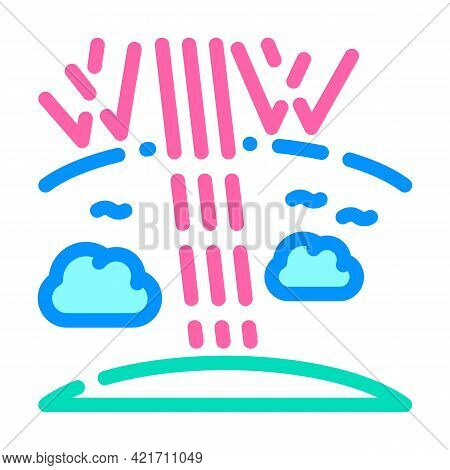 Ozone Holes Disaster Color Icon Vector. Ozone Holes Disaster Sign. Isolated Symbol Illustration