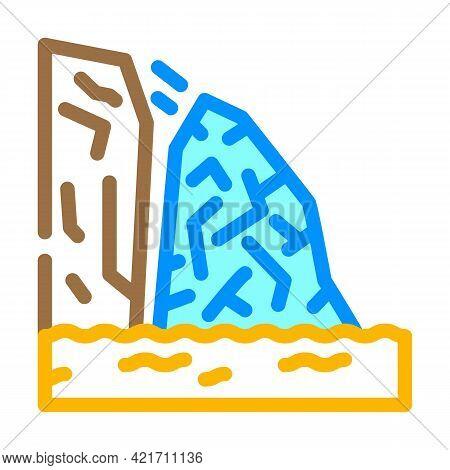 Breakaway Iceberg Disaster Color Icon Vector. Breakaway Iceberg Disaster Sign. Isolated Symbol Illus