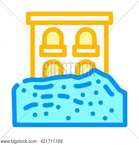 Heavy Rainfall Disaster Color Icon Vector. Heavy Rainfall Disaster Sign. Isolated Symbol Illustratio