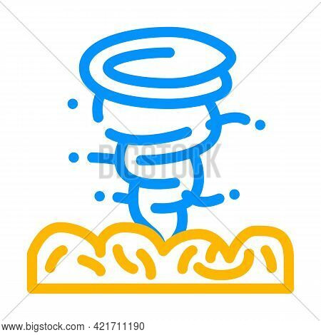Hurricane Disaster Color Icon Vector. Hurricane Disaster Sign. Isolated Symbol Illustration