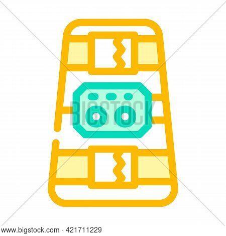 Ankle And Calf Stimulator Color Icon Vector. Ankle And Calf Stimulator Sign. Isolated Symbol Illustr
