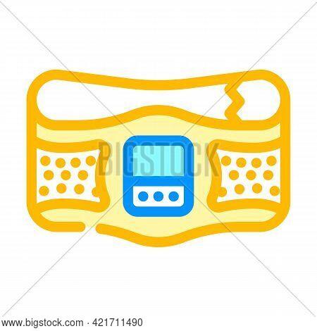 Belt Stimulator Color Icon Vector. Belt Stimulator Sign. Isolated Symbol Illustration