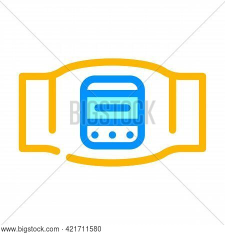 Body Electrical Stimulator Color Icon Vector. Body Electrical Stimulator Sign. Isolated Symbol Illus