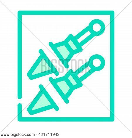 Knife Pocket Color Icon Vector. Knife Pocket Sign. Isolated Symbol Illustration