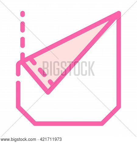 Ripped Pocket Color Icon Vector. Ripped Pocket Sign. Isolated Symbol Illustration
