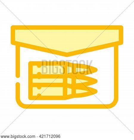 Bullet Pocket Color Icon Vector. Bullet Pocket Sign. Isolated Symbol Illustration
