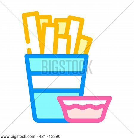 Churros Spain Snack Color Icon Vector. Churros Spain Snack Sign. Isolated Symbol Illustration