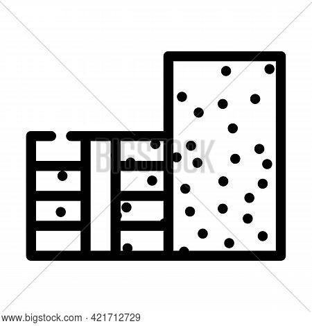 Styrofoam Building Material Line Icon Vector. Styrofoam Building Material Sign. Isolated Contour Sym
