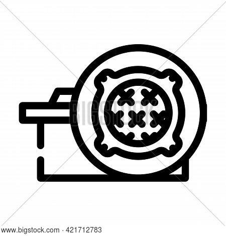 Concrete Products, Sewer Hatches Building Material Line Icon Vector. Concrete Products, Sewer Hatche