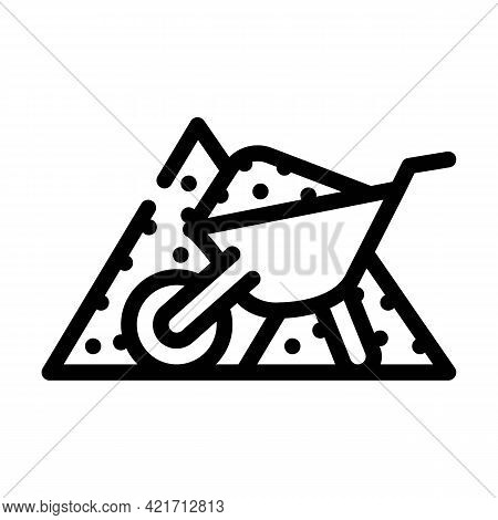 Sand Building Material Line Icon Vector. Sand Building Material Sign. Isolated Contour Symbol Black