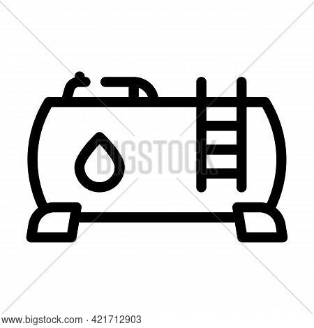 Water Building Material Line Icon Vector. Water Building Material Sign. Isolated Contour Symbol Blac