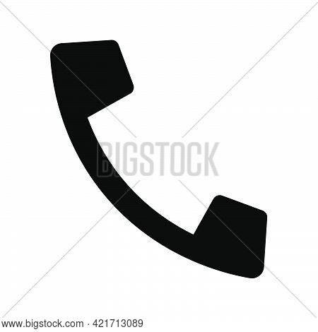 Shopping Handset Phone Or Telephone Number, Or Helpdesk Simple Isolated Icon For Apps And Websites C