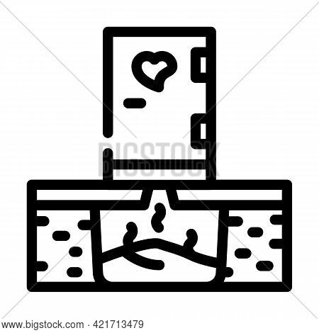 Toilet Compost Line Icon Vector. Toilet Compost Sign. Isolated Contour Symbol Black Illustration