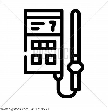 Soil Analyzer Device Line Icon Vector. Soil Analyzer Device Sign. Isolated Contour Symbol Black Illu