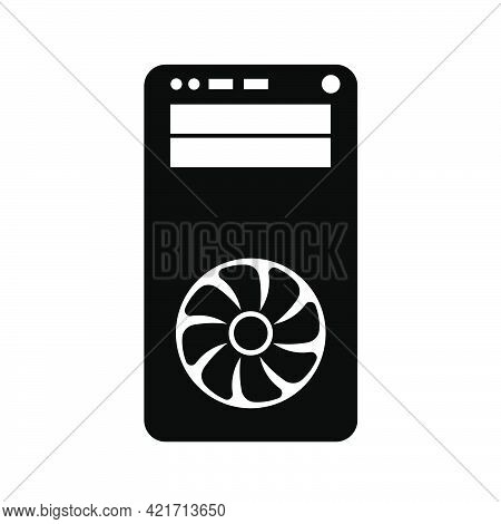 Simple Illustration Of System Unit Or Personal Computer Icon