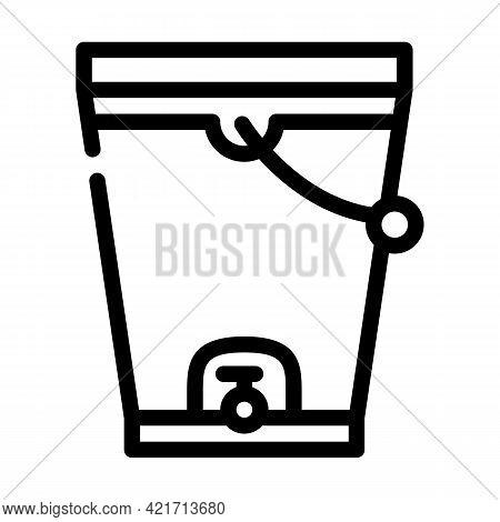 Composting Bucket Line Icon Vector. Composting Bucket Sign. Isolated Contour Symbol Black Illustrati
