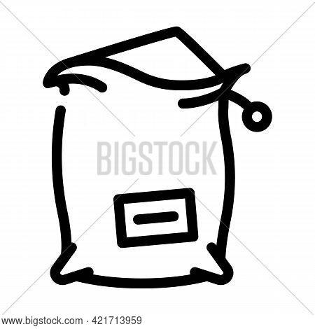 Bag Compost Line Icon Vector. Bag Compost Sign. Isolated Contour Symbol Black Illustration