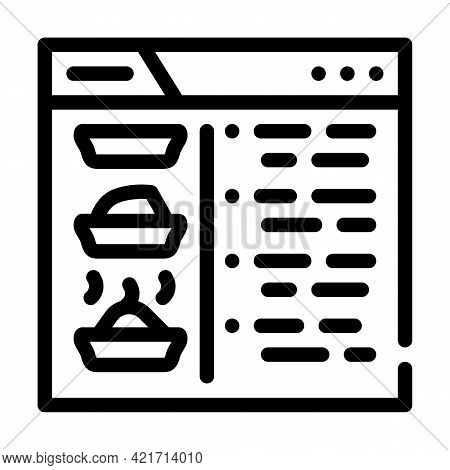 Recipe Website Line Icon Vector. Recipe Website Sign. Isolated Contour Symbol Black Illustration