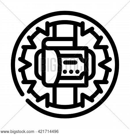 Money Trap Line Icon Vector. Money Trap Sign. Isolated Contour Symbol Black Illustration