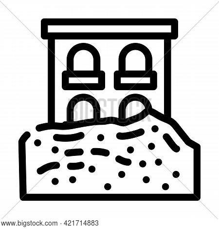 Heavy Rainfall Disaster Line Icon Vector. Heavy Rainfall Disaster Sign. Isolated Contour Symbol Blac