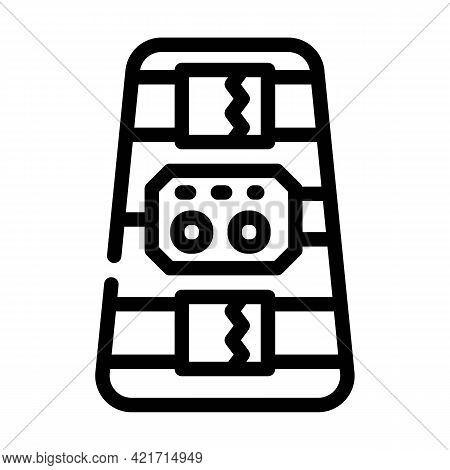 Ankle And Calf Stimulator Line Icon Vector. Ankle And Calf Stimulator Sign. Isolated Contour Symbol