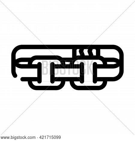 Stimulator With Strap Line Icon Vector. Stimulator With Strap Sign. Isolated Contour Symbol Black Il